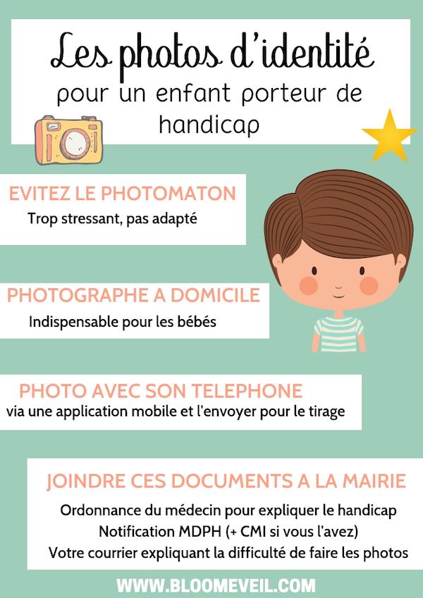 infographie faire photo du passeport pour les enfants ayant des troubles psychomoteurs